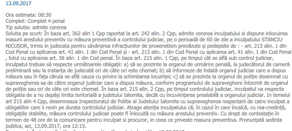 control judiciar Stanciu